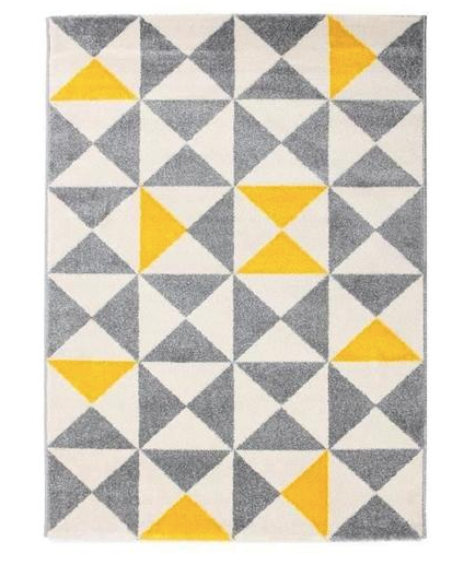 FIONA living room yellow and anthracite rug - My Discount Malta