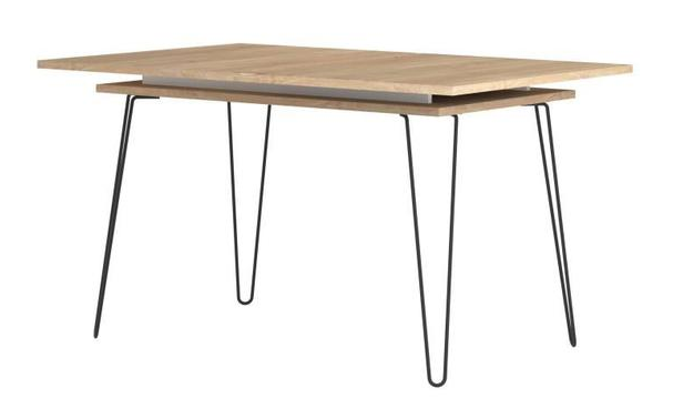 OGONE Extendable dining table for 6 to 8 people vintage style melamine oak decor - W 174 x W 90 cm - My Discount Malta
