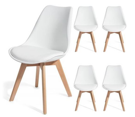 BEKKA-  4 dining chairs Scandinavian - My Discount Malta