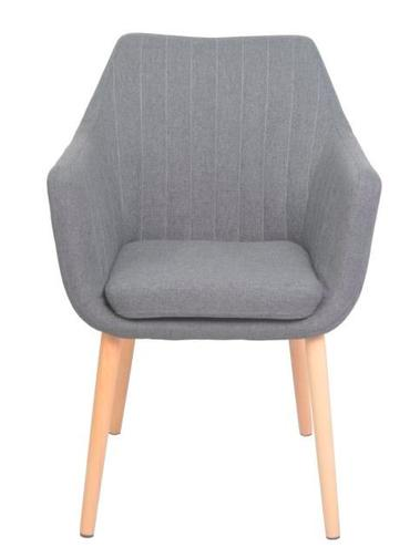 KANA Dining chair in metal and solid wood - My Discount Malta