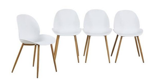 LILLA -  Set of 4 Scandinavian Design Chairs - My Discount Malta