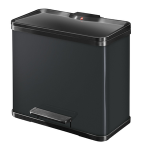 27L Waste Seperator for Kitchen Waste with 3 compartments - Black - My Discount Malta