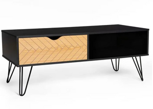 LEON Vintage coffee table with graphic patterns