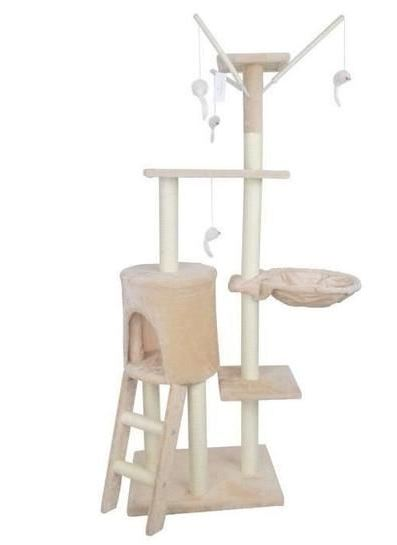 Large cat tree scratcher with lounger - My Discount Malta - Beige