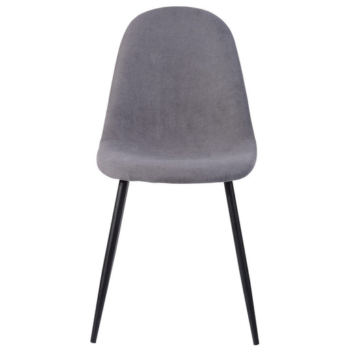 Charon Set of 4 Scandinavian Style Chairs - Dark grey fabric and metal feet   Dining Chairs boutique-discount-malta.myshopify.com My Discount Malta