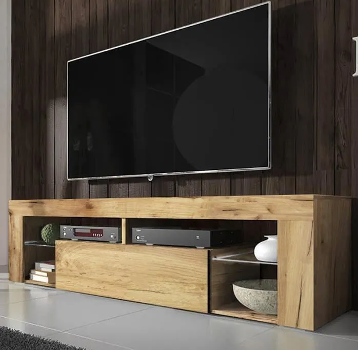 Bianca TV cabinet with Storage for Living Room - Various colours available - Led option