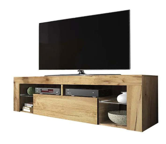 Light oak tv cabinet without led