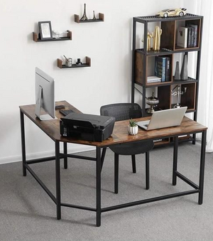 Industrial corner desk