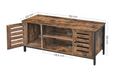 Industrial Style TV Cabinet with wooden structure and metal feet 110cms x 40cms