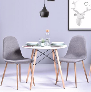 Mannie Round dining table for 2 to 4 persons - Scandinavian style - Diameter 80cms - My Discount Malta