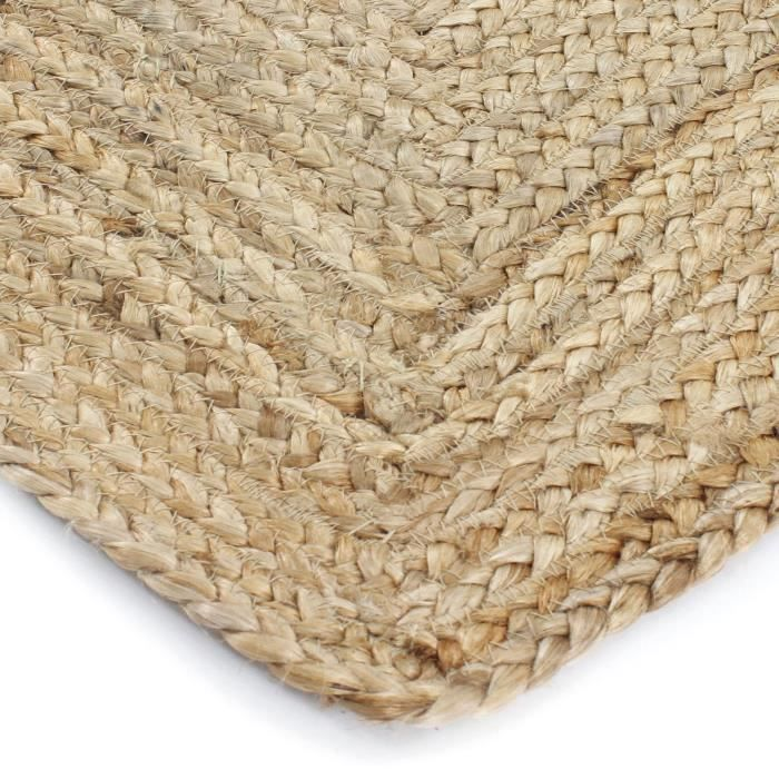 jute natural carpet close up