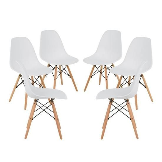 BRAKKA - 6 Dining Chairs Nordic Style