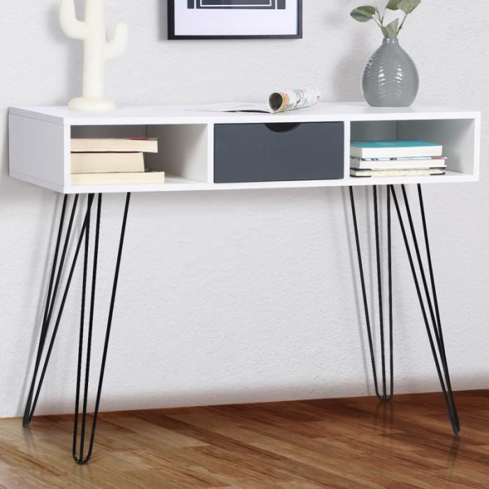 Vintage Console Table with pin base