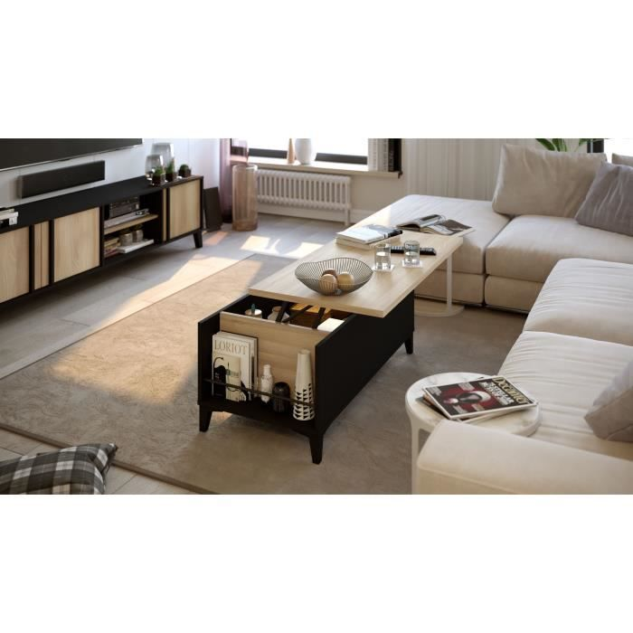 Elca Coffee Table with Lift Up Top - Scandinavian Style