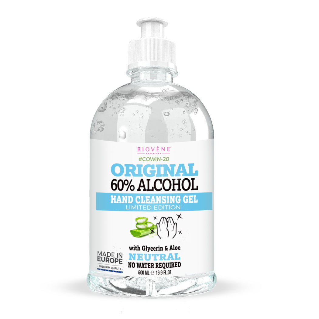 Original 60% Alcohol, Hand Cleansing Gel with Aloe Vera, 500 ML