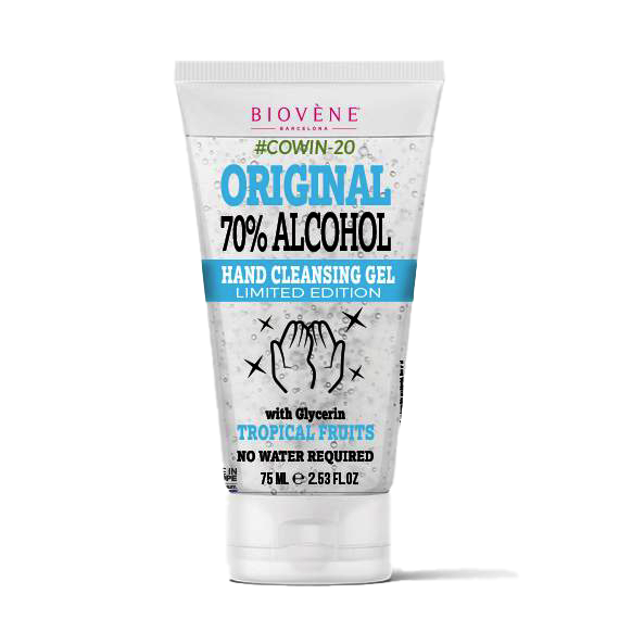 Original 70% Alcohol, Hand Cleansing Gel with Glycerin, 75 ML