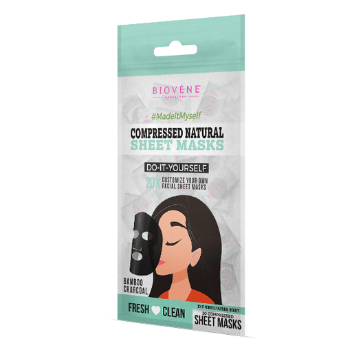 Compressed Natural Sheet Masks, Bamboo Charcoal