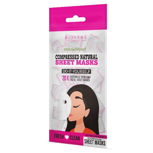 Compressed Natural Sheet Masks