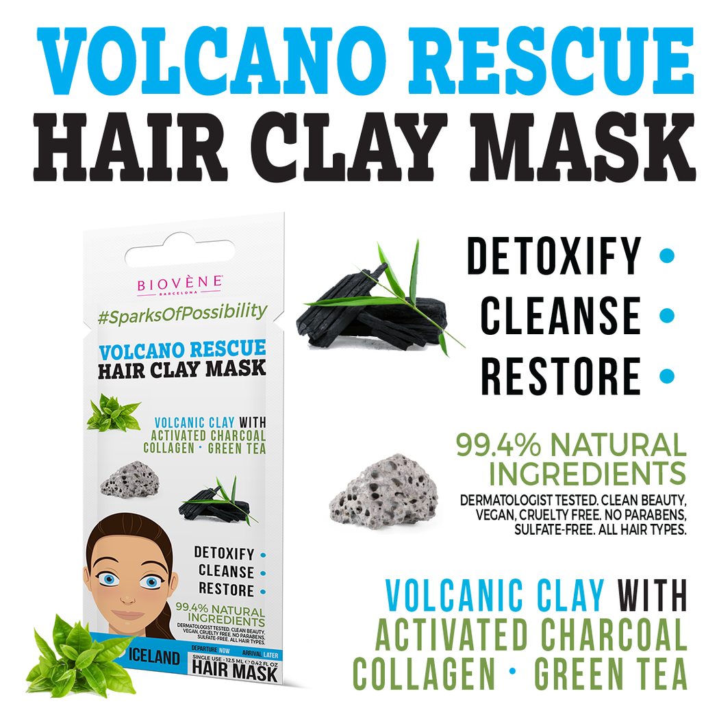 Volcano Rescue, Hair Clay Mask