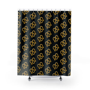 24K 3 Ring Shower Curtains