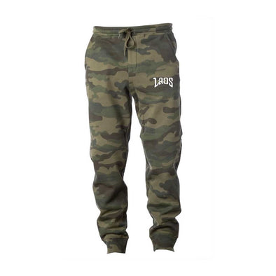 Laos Script Embroidered Logo Jogger Pants