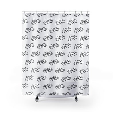 Lao Hand Sign Shower Curtains