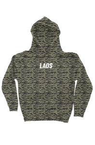 Laos Embroidered Tiger Camo Hoodie