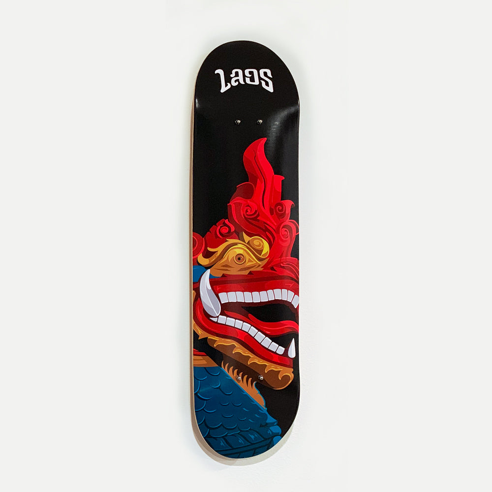 Laos Skateboard Deck with Wall Mount