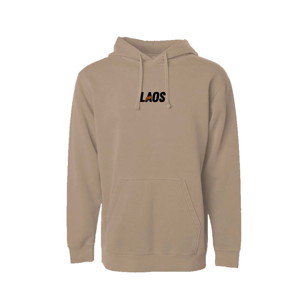 Laos Sash Embroidered Logo Pigment Hoodie