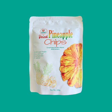 100% Natural Dried Pineapple Flower Fruit Snack Chips