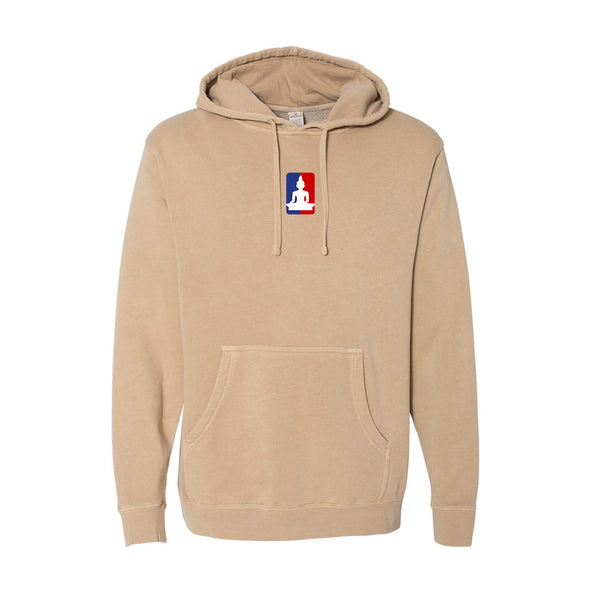Buddha League Embroidered Logo heavyweight pullover hoodie - Sandstone