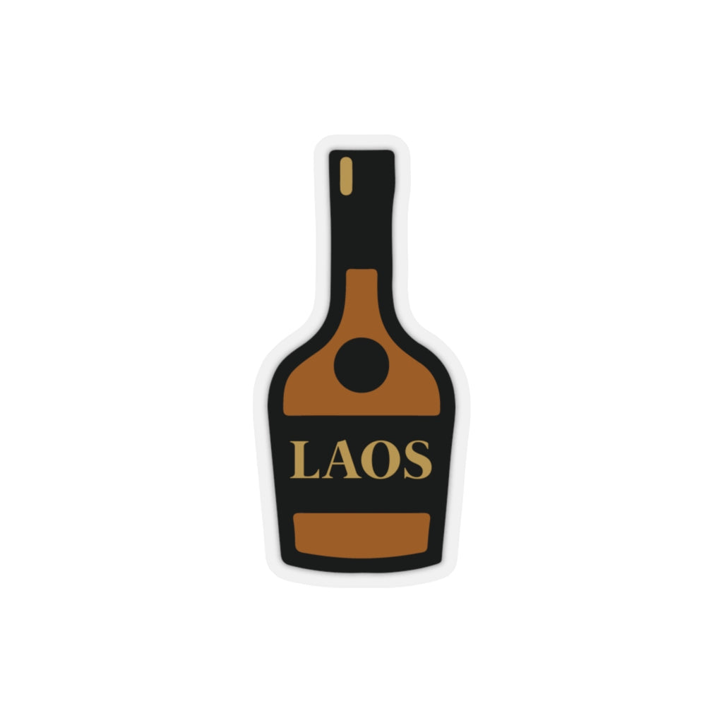Laos Bottle Kiss-Cut Stickers