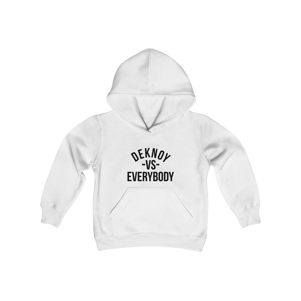 Deknoy Vs Everybody Kids Heavy Hoodie