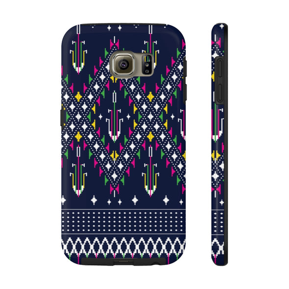 Lao Navy Traditional Textile Case Mate Tough Phone Cases