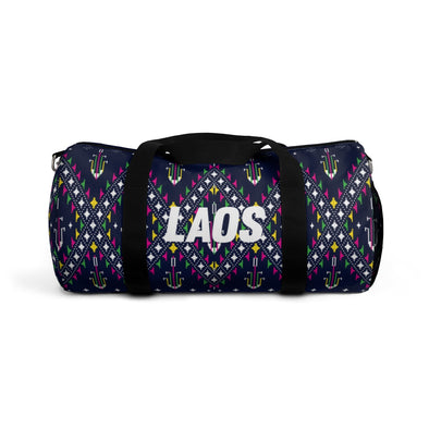 Lao Navy Traditional Textile Duffle Bag