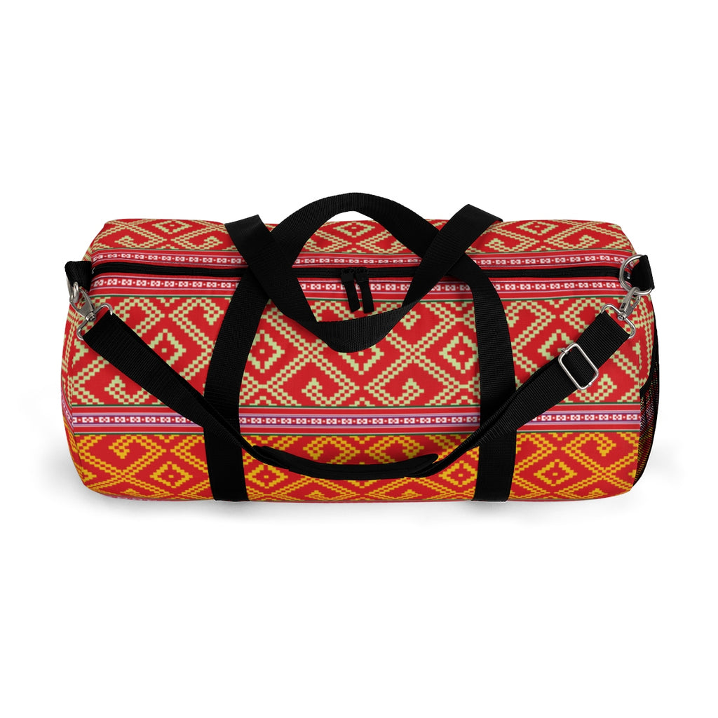 Lao Pillow Case Pattern Duffle Bag