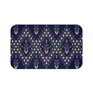 Lao Navy Traditional Textile Bath Mat