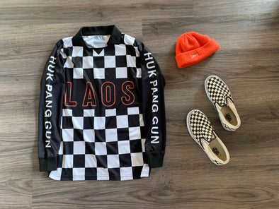 Checker Long Sleeve Soccer Jersey