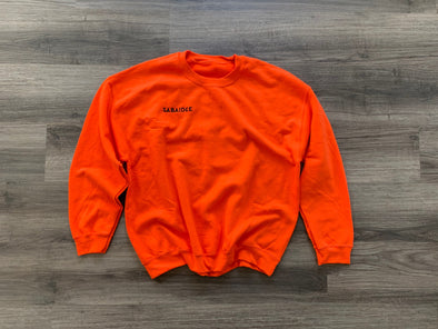 Sabaidee Embroidered Orange Crewneck Sweatshirt