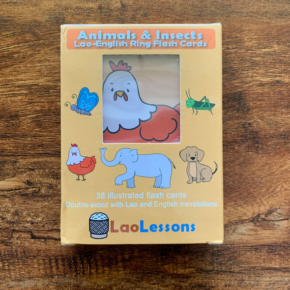 Lao Animals and Insects Ring Flash Cards