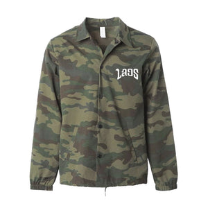 Laos Embroidered Logo Camo Coaches Jacket