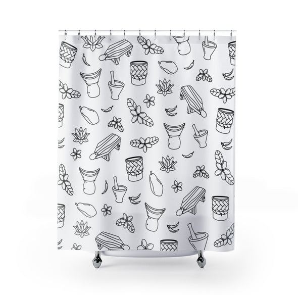 Lao Food Shower Curtains
