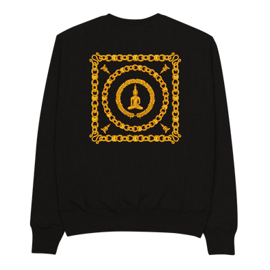 Gold Chain Buddha Champion Sweatshirt
