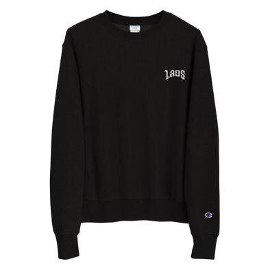 Laos Embroidered Logo Champion Sweatshirt