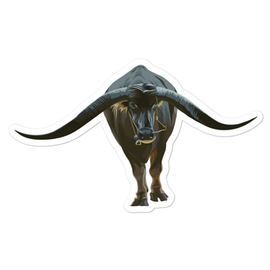 Water Buffalo Bubble-free stickers