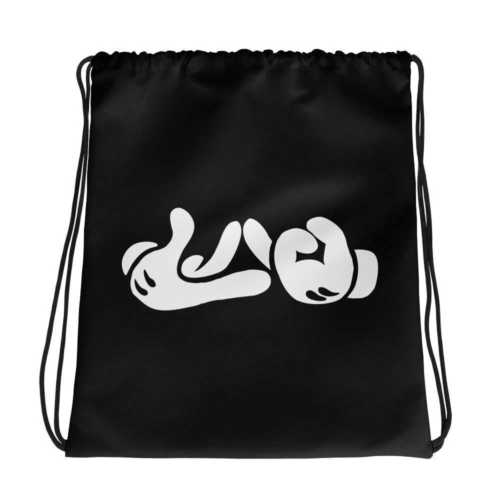 Lao Hand Sign Drawstring bag