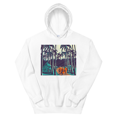 Monk March Palm Trees Hoodie