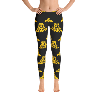 Fear Of A Spicy Papaya All-Over Print Women's Leggings