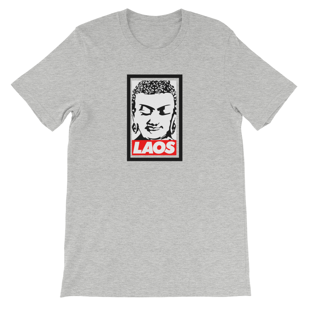 Laos Buddha Head Box Logo T-Shirt