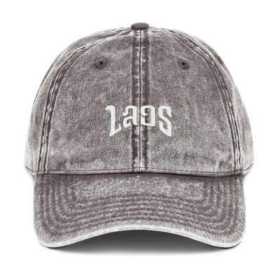 LAOS Script Vintage Cotton Twill Dad Hat